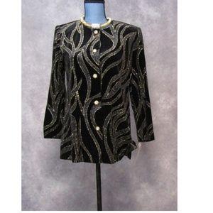 NWT R&M Richards Black Velvet Jacket 6P